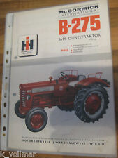 ✪✪✪Prospekt INFO/HEFT Baumaschinen International Harvester Mc Cormick B-275
