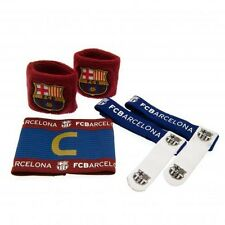 FC Barcelona Football Sock Ties, Captains Armband & Sweat Band Set Free UK P&P