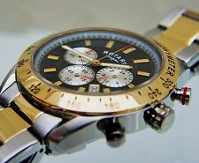 NEW Rotary Men's Two-Tone Gold plated Watch Chronograph Watch New RRP £180 Boxed