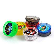Acrylic Plastic Leaf Herbal Herb Tobacco Grinder Smoke Spice Crusher Hand Muller