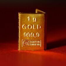 1 Gramm Goldbarren 999,9 Feingold (Valcambi ESG Tafelbarren, 1g Gold Barren)