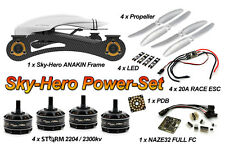 SKY-HERO Anakin FPV Racing Frame + STORM 2204 4s 20A Power Kit + Naze32 + LED