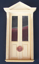 1:12 Double Wooden Victorian Door Dolls House Miniature DIY Accessory 070
