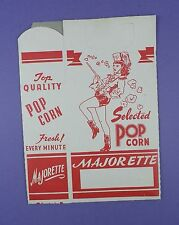 Original c1950's Unused Majorette Popcorn Box
