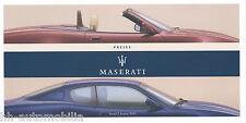 Maserati Preisliste 2.1.03 D Coupé Spyder price list 2003 Auto PKWs Preise Italy