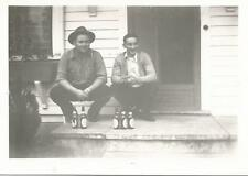 2 Washington State Guys with 5 Empty Beer Bottles Photo 1940s