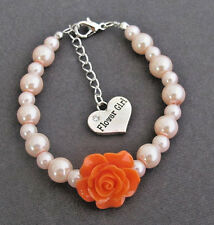 Flower Girl Bracelet,Flower Girl Charm Jewelry,Kids Bracelet,Children Jewelry