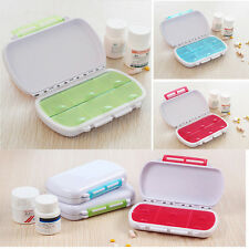 6 Day Weekly Tablet Pill Medicine Boxes Holder Storage  Container Case