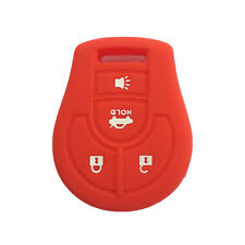 Red Silicone Key Jacket Key Fob Case Cover 4 Buttons for NISSAN Maxima Altima