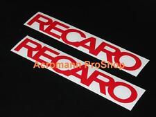 2x 6inch 15.2cm RECARO Decal Sticker Seat JDM D1 GTR EVO WRX DC EG EK race vinyl
