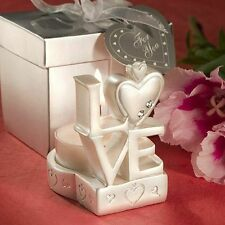 25 LOVE Design Candle Holder w/ Box - Wedding Favors - Free US Shipping