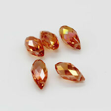 New 10pcs Pretty fashion DIY Faceted Glass Crystal Teardrop Beads 6x12mm