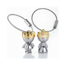 Little King & Little Queen Couple Keychain Key Chain Ring Keyring Keyfob 83004