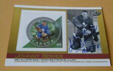 2004 Pacific Autographed JOHNNY BOWER Toronto Commemorative Stamp Issued Card