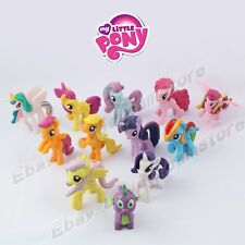 6x My Little Pony Apple Jack/Rarity/Spike 5cm-6cm PVC Figure Loose Set Random