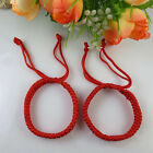 2X Feng Shui Red String Bracelet For Good Fortune Luck Succrss And Protection MW