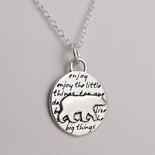 Bear Charm Necklace - 950 Sterling Silver - Handmade - Inspirational Pendant NEW