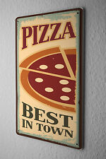 Tin Sign Food Restaurant Pizza