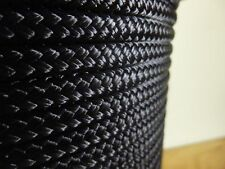 1/4 x 100 ft. black superior double braid~yacht braid polyester rope hank.