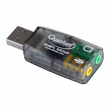 Quantum USB Sound Card, USB to Speaker & Mic Audio Adapter