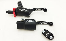 ASV F3 Black Shorty Holiday Pro Pack Adjustable Clutch + Brake Levers CRF 250R