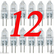 12 HALOGEN LIGHT BULBS 12V 20 WATT TYPE JC BASE G4 CLEAR BI-PIN HIGH LUMENS
