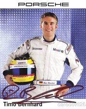 2004 Timo Bernhard signed Porsche Motorsport GT Sebring ALMS postcard