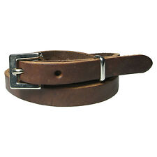Ladies 12mm Skinny New Soft Hide Real Leather Fashion Belt For Jeans Made In UK