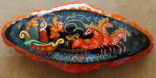 Russian troyka / 3 horses/  WOOD  HANDPAINTED BARRETTE  HAIR PIN LARGE #24s s