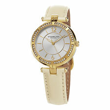 Stuhrling Original Women's 550.04 Casual Vogue Ivory Leather Strap Quartz Watch