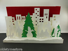 Starbucks 2008 Christmas 3d Store Display - Flashing Fiber Optic Lights - 16x27