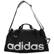 adidas Linear Medium Team Holdall Bag in Black - One Size From Get The Label