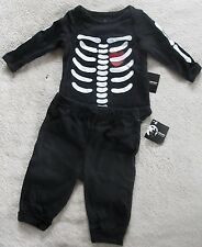 Baby Girl or Boy Skeleton Halloween Costume Outfit Size 0-3 Months New!