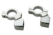 "Chrome Motorcycle Handlebar Mirror Mount 10MM 7/8"" ALUMINUM CLAMP Universal"