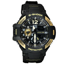 *NEW* CASIO MENS G SHOCK GRAVITY MASTER GOLD WATCH TWIN SENSOR GA1100-9G