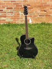 Ovation Celebrity CS24 Standard Mid-Depth Cutaway A/E Guitar #9219 Black