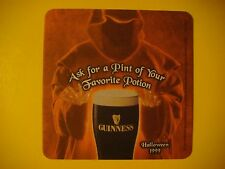 Beer Breweriana Coaster: Guinness Drought    Favorite Potion    Halloween 1999