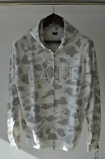 Bape A Bathing Ape White Grey Camo Swarovski Nigo OG Full Zip Hoodie L Large
