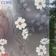 92cmx3m Floral Privacy Frosted Frosting Removable Glass Window Film c1365