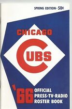 1966 CHICAGO CUBS MLB MEDIA GUIDE VINTAGE FREE SHIPPING