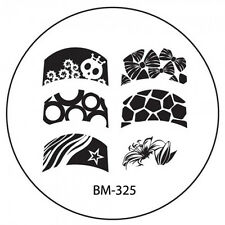 Bundle Monster Stamping Schablone Plate BM-325 Nailart French Flower