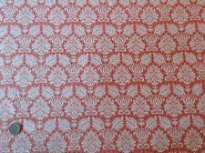 Tilda Fruit Garden Babette Peach Fleur de Lis Cotton Quilting Fabric 50cm x 45cm