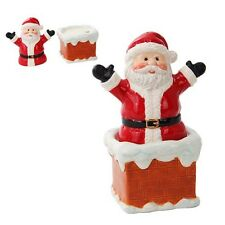 Santa Clause Chimney Ceramic Salt and Pepper Shakers.Chrismas Holiday Home Decor