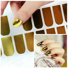 3Color 16pcs Nail Art Sticker Patch Foils Armour Wraps Decoration for Women Girl