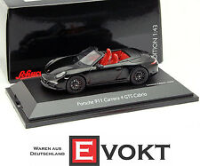 Schuco Porsche 911 (991) Carrera 4 GTS Cabrio 2014 Black Model Car 1:43 Genuine