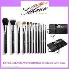 NEW Sedona Lace 12-Piece BLACK PROFESSIONAL Brush Set FREE SHIPPING Makeup BNIB
