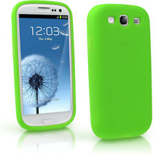Vert Étui Housse Silicone pour Samsung Galaxy S3 III i9300 Android Smartphone