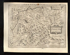 1648 Fine original map of Savoy Chambery Geneva France MERCATOR HONDIUS