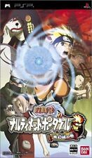 Used PSP BANDAI Naruto : Narutimett Portable   SONY PLAYSTATION JAPAN IMPORT