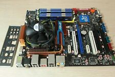 COMBO ASUS P5Q-E MOTHERBOARD LGA 775 + Q9550 CPU + 8GB KINGSTON HYPERX MEM + I/O